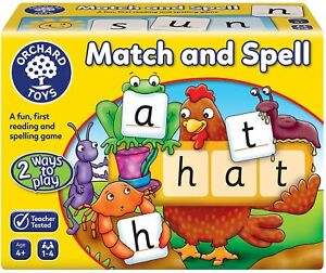 Match Spell Educational Board Game Children Phonics Reading Spelling Learning