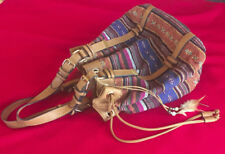 Native American Design Scarleton Bag Pull Leather String Magnetic Closure on Top