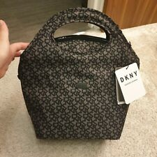 DKNY SIGNATURE THERMAL LUNCH Bag Black grey office new cooling bag