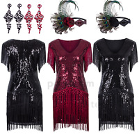 Layered Tassel 1920s Flapper Gatsby Cocktail Dress Wedding Formal Party Dresses