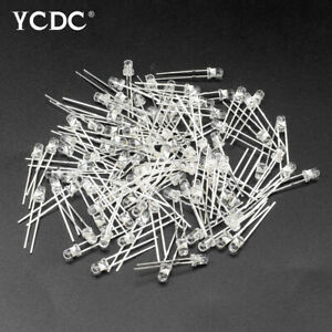 3mm led diode lights assored white emitting lamps for diy projects ad boards 24