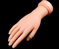 NAIL ART TIPS PRACTICE TRAINING MOVABLE SOFT PRACTICE HAND FINGER FLEX MODEL