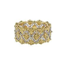 Buccellati White Yellow Gold Band Ring