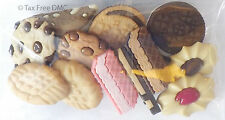 VAT Free Dress It Up In The Cookie Jar Biscuits 12 Buttons Craft Knit Sew New
