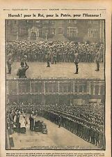 King George V Soldiers British Army Tommies Regiment London UK 1915 WWI
