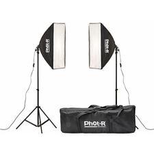 FOT-R 2x 1350w 50x70cm Studio Fotografico Illuminazione continua Softbox Kit Stand