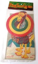 Vintage Cardboard Camel Ring Toss Game Original Package Japan Great Graphics