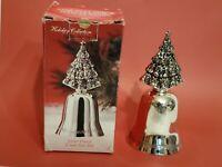 Vintage Godinger Christmas Silverplated Christmas Tree Bell