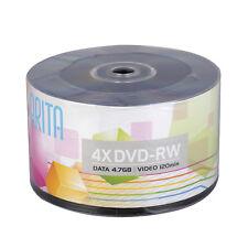 50pcs DVD-RW 4.7GB 120min Rewritable 4X Disc Movie Video Digital Data Recordable