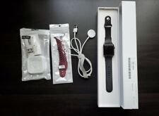 Apple Watch Series 3 42mm Space Gray Alum Case (W/ Box + Accessories) GOOD COND.