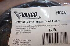 Vanco Cctv Bnc to Bnc rg59 coax cable lot of 4