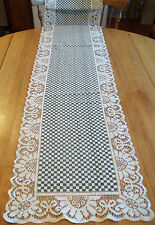 HERITAGE LACE GINGHAM GREEN & WHITE CHECKERED RUNNER 14X72 ITEM 2790