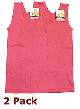 2x Bonds Original Chesty Teenager Girl Size 14 Cotton Singlet Tank Top Hot Pink