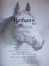 *BIRTHDAY/CHRISTMAS GIFT FOR HORSE LOVERS.Their first name on horse themed print