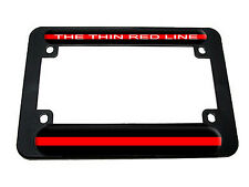 Thin Red Line - Firefighter Motorcycle License Plate Tag Frame