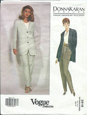 Vogue 2918 sewing pattern JACKET Fab PANTS sew DONNA KARAN New York sizes 6-8-10