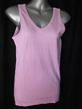 BNWT Womens Sz 10/12 Bella B Wear Designer Label Cute V Neck Pink Singlet Top
