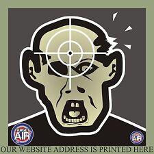 25 PAPER 14CM ZOMBIE HEAD CARTOON AIRSOFT BB GUN SHOOTING PRACTISE TARGETS