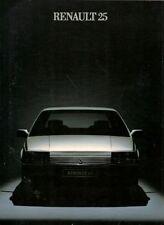 Renault 25 1984 UK Market Sales Brochure V6 Injection GTX GTS TS