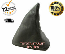 TOYOTA STARLET 1973-1999 GENUINE ITALIAN LEATHER GEAR GAITER COVER BLACK STITCH