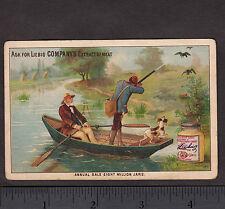 Duck Hunting Dog c 1884 Liebig S112 English Language Sportsman Hunter Trade Card