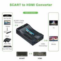 HD 1080P SCART zu HDMI Video Audio Upscale Konverter DVD Adapter SkyBox A5W3