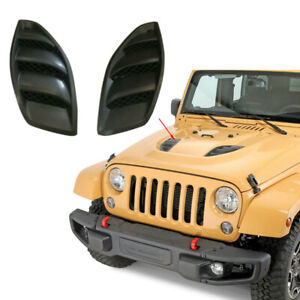 For 10th Anniversary Jeep Wrangler JK 07-18 2PCS Louvers Engine Inlet Hood Vents