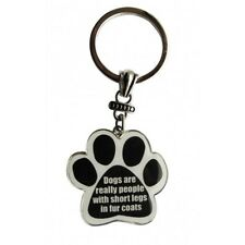 Paw Print Key Chain Fob Dogs are really people with short legs in Fur Coats