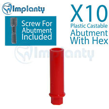 10 Plastic Castable Abutment With Hex Dental Internal Hex Ft Alpha Bio Zimmer