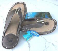 New Men's Margaritaville Brown Grove Thong Sandal Flip Flop US Size 10