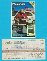 Leo Fender 1982 Autographed Signed G&L Business Check w/ HP Leo HP Photo #3