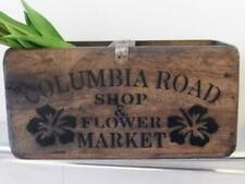 VINTAGE STYLE WOOD STORAGE CRATE CHEST BOX COLUMBIA ROAD SHOP & FLOWER MARKET