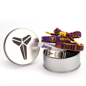 Kobe Bryant Bracelets 5-piece Set Adjustable Wristband with Tin Box