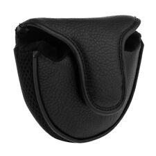 Golf Mallet Putter Head Cover Center Shaft Putter Headcover Protector Black