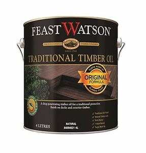 Feast Watson TRADITIONAL TIMBER OIL Exterior Hard Wearing UV Resist Natural 4L