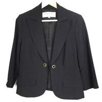 Trina Turk Womens Size 8 Work Jacket Black Career Blazer