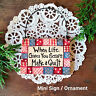 Mini Sign WOOD Ornament Life Scraps Make a Quilt Quilting Quilter USA DecoWords