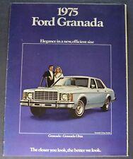 1975 Ford Granada Catalog Sales Brochure Ghia Excellent Original 75