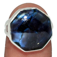 Mystic Merlinite Crystal - Madagascar 925 Silver Ring Jewelry s.5.5 AR130894