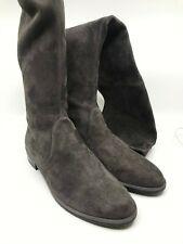 Stuart Weitzman NEW Lowland Londra Medium Gray Suede Over Knee OTK Boots $798