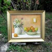 Peinture encadrée Nature Morte aux Fruits Signée A.Wandewèghe 1986