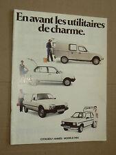 Beau Catalogue CITROEN Utilitaires 1984 LNA VISA GSA ACADIANE brochure prospekt