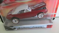 2007 Hot wheels ULTRA HOTS #12 67 CHEVY CAMARO red with white top & stripes 1967