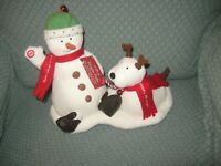 2004 Hallmark Jingle Pals Oh What Fun Snowman And Dog Excellent With Tag