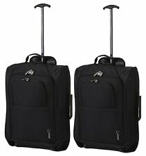 5Cities The Valencia Collection Hand Luggage Lightweight Travel Holdall Set of 2
