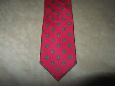 Vintage Silk Red Neck Tie 54 inches Long 3 1/2 inches wide Mens Neck Tie 1980s