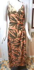 NWT $248 VIX Paula Harmanny Tropicus Grazi Swim Cover Up Dress, Peach/Green, L