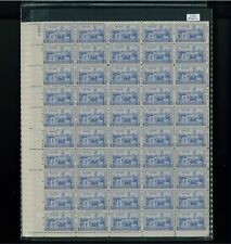1937 United States Postage Stamp #789 Plate No. 21680 Mint Full Sheet