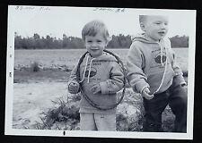 Old Vintage Photograph Two Babies Tube Around Neck Skyline Drive Va. Sweatshirts