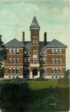 St Thomas Ontario~Collegiate Institute~1914 Postcard